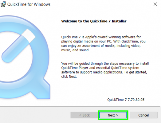 Installing Quicktime 7 File on Windows
