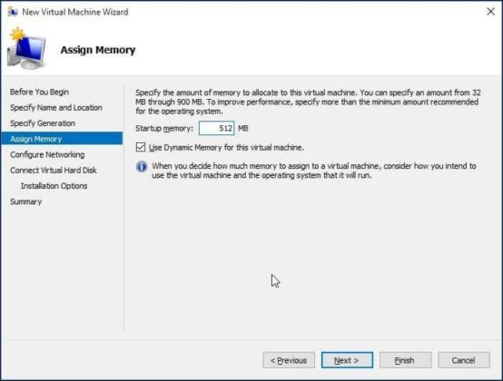 Assign Dedicated Memory for New Virtual Machine