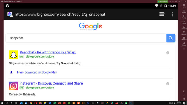 Use Snapchat on PC and Mac - Snapchat Search Results on NoxPlayer
