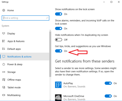 How to stop getting unnecessary prompts on Windows 10
