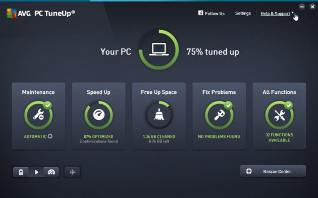 AVG TuneUp PC Cleaner for Windows