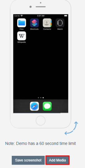 Using Appetize.io to run Facetime