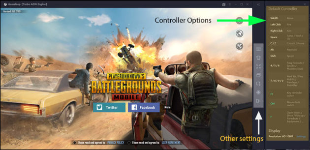 Pubg Mobile controller and other settings