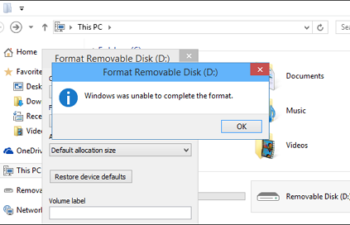 Format removable Disk D interface